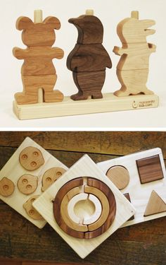Pretty wood toys by Manzanita Kids