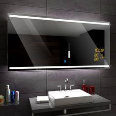DENVER Illuminated Led bathroom mirror - Weather Station - Switch - Demister   eBay