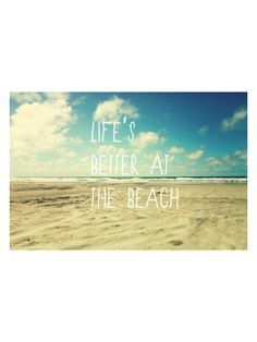 Such a beautiful print. I can wake up to that! Life's Better at the Beach (Canvas) by Marmont Hill at Gilt