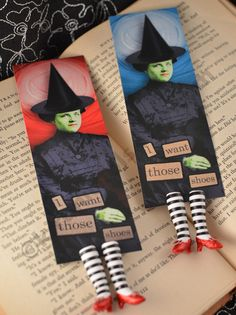 The ORIGINAL Wicked Witch Bookmark  - Ruby Slippers Bookmark - Witch Legs Bookmark - Vintage Witch. $21.00, via Etsy.