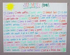 Summer to do list!