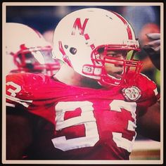 Ndamukong Suh in his second to last game as a Nebraska Huskers player.