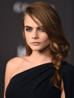 The wild braid of Cara Delevingne art at LACMA in November 2014