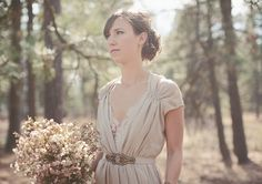 love this off white look for brides   Washington Ranch Wedding: Kristen + Michael   #bridestyle