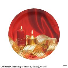 Christmas Candles Paper Plates 7 Inch Paper Plate