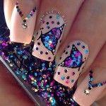 nail art 2014 Summer 2014 Nails and such a great design Butterfly Nail Designs, Butterfly Nail Art, Cute Nail Designs, Nail Polish Designs, Pretty Designs, Butterfly Necklace, Great Nails, Fabulous Nails, Gorgeous Nails