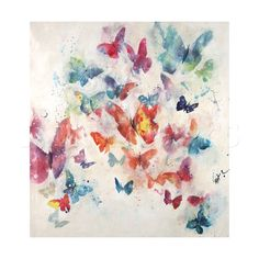 Great Big Canvas 'Flutterby Wisps' by Farrell Douglass Painting Print on Canvas Size: H x W x D Painting Prints, Wall Art Prints, Poster Prints, Canvas Prints, Big Canvas, Art Posters, Watercolor Paintings, Butterfly Watercolor, Butterfly Print