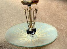 Original Mid-Century Atomic Ceiling Light Starburst Glass Ceiling Lamp Retro Lighting