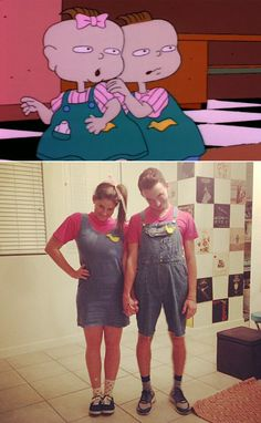 '90s Halloween Costumes For Couples: Phil and Lil From Rugrats