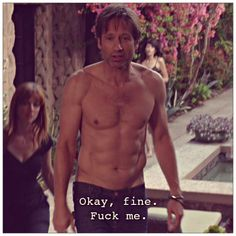 """Perverts and Whores. """"Don't pee on her. Thats gross. Are you ok with it? (She nods head) Really? Californication Quotes, Hank Moody, David And Gillian, David Duchovny, Pretty Photos, Baby Daddy, Celebrity Crush, Movie Tv, Beautiful People"""