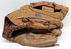 Mickey Mantle Roger Maris Signed Autographed Baseball Glove Musial Ford 4283 - JSA Certified - Autographed MLB Gloves -- You can get additional details at the image link.
