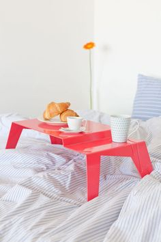 breakfast in bed. wish I knew who makes this. i so love this in red anything redddddd