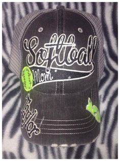 Fastpitch or Softball Mom Hat by OutlawSoulDesigns on Etsy Softball Party, Softball Stuff, Softball Mom, Mom Hats, Team Apparel, Silhouette Cameo, Shirt Designs, Baseball Hats, Party Ideas