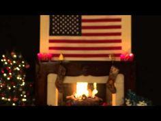 Enjoy this Patriotic Christmas Fireplace. Merry Christmas!