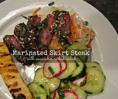 Marinated Skirt Steak with Cucumber Radish Salad - We loved the flavors of this recipe. Quick & Easy too!