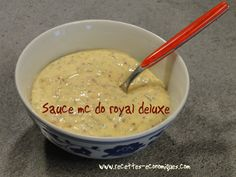 sauce mc do royal deluxe Fondue, Tacos, Pudding, Cheese, Ethnic Recipes, Desserts, Mc Do, Hamburgers, Food Recipes