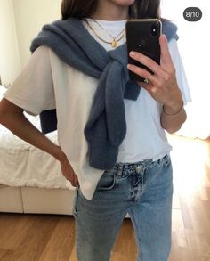 Cute Casual Outfits, Simple Outfits, Look Fashion, Fashion Outfits, Womens Fashion, Fashion Spring, Girl Fashion, Mode Ootd, Elegantes Outfit