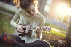Ukelele senior portrait - would work with guitar too