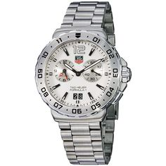 The Most Popular TAG Heuer Men's Watch: TAG Heuer Men's WAU111B.BA0858 Formula 1 White Dial Grande Date Alarm Watch