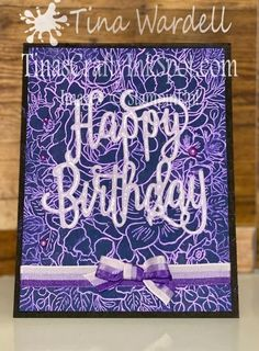 Technique Tuesday~Pearl Ex Powder Backgrounds ⋆ Tina Wardell~Stampin' Up! Pearl Ex, Happy Birthday Gorgeous, Cute Backgrounds, Melting Crayons, Quick Cards, Watercolor Background, Stampin Up, Birthday Cards, Craft Projects