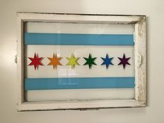 Handmade Pride inspired Chicago Flag Window by YouAndMeGoods on Etsy