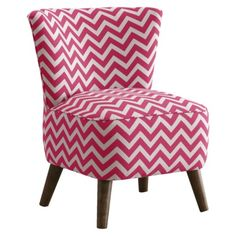 Gah! I want this chair so, so, so, so much!!!!   Mid Century Modern Chair Zig Zag Candy - Pink/White.Opens in a new window