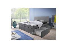 Łóżko tapicerowane LINE 180/200 + 4 szuflady, materace kieszeniowe