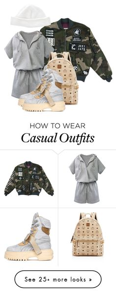 """""""GETTIN' HIGH LIKE THIS IS MY LIFE"""" by xxxthebombshellfactoryxxx on Polyvore featuring MCM, Puma and Acne Studios"""