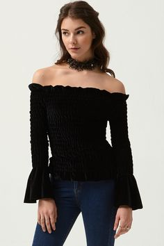 Ivea Off-the-Shoulder Top Discover the latest fashion trends online at storets.com