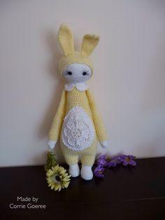 Lalylala Easterbunny/ made by Corrie Goeree/lalylala basic pattern Fibi