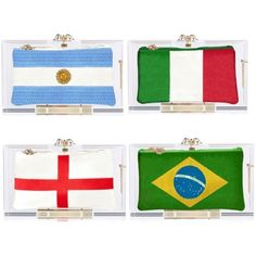 @colympia introduces World Cup inspired clutches in Lucite Lux®. Available 7/4/14.