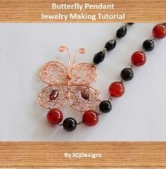 Learn jewelry making and beading - Butterfly Pendant Tutorial