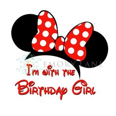 Minnie Mouse Printable Disney I'm With The by EmoryLaneStudios, $3.75