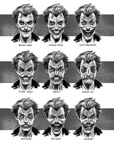 Joker Expressions from Batman: Arkham Origins.. It's funny because these are very similar to my smiles
