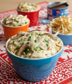"""Tuna Noodle Casserole in the slow cooker/crockpot. From """"Fix It N Forget It"""" kids cookbook. Crockpot Dishes, Crock Pot Slow Cooker, Crock Pot Cooking, Pressure Cooker Recipes, Crockpot Recipes, Cooking Recipes, Tuna Casserole Slow Cooker Recipe, Cooking Fish, Freezer Cooking"""