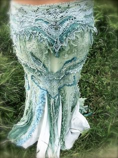 Evening Dress   Undine Water Nymph Mermaid Long Skirt by Equalion, $650.00