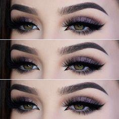 love this shimmery plum smokey eye! ~ we ❤ this! moncheriprom.com