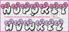 "Delicate Corner: Charts Cross Stitch ""Monograms Hello Kitty"""