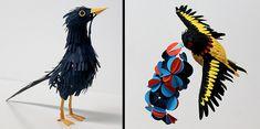 Beautiful paper birds created by Colombian artist Diana Beltran Herrera.