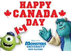 Happy Canada Day from Monsters University - Come and link up your Canada Day posts