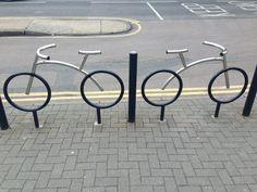 Bike, bike rack