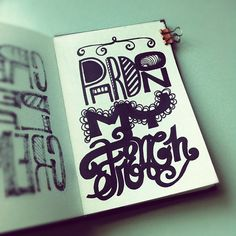 Pardon my French! #lettering #letteringdaily #doodle #type - @magicmaia- #webstagram