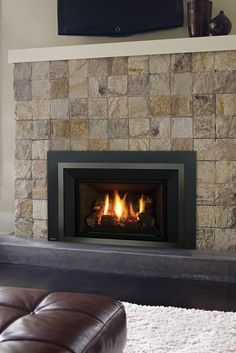 Quickly and easily replace your wood fireplace with a new gas insert. Say goodbye to wood and hello to gas! Fireplace Inserts, Wood Fireplace, Gas Insert, Traditional Fireplace, Old Wood, Regency, Firewood, Inspiration, Home Decor