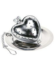 accessories - stainless steel heart infuser | tease tea