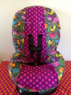 Toddler+carseat+cover+birds+&+polka+dots+by+LIZSSTITCHESdotCOM,+$35.00