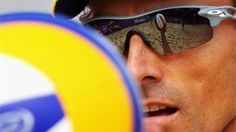 Emanuel Rego of Brazil prepares to serve during the Men's Beach Volleyball. #Olympics Olympics