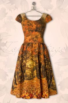 Retrolicious - 50s Seasons Swing Dress