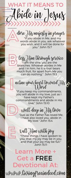 FREE Devotional: Abiding in the Vine - Jesus Quote - Christian Quote - Christian Quotes:FREE Devotional on Abiding in Christ Prayer Scriptures, Bible Verses Quotes, Jesus Quotes, Wisdom Quotes, Qoutes, Devotional Quotes, Faith Quotes, Abide In Christ, Get Closer To God
