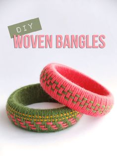 Try this woven yarn wrapped bangles with our Bonbons yarn for a fun summer activity. Tutorial by My Poppet.