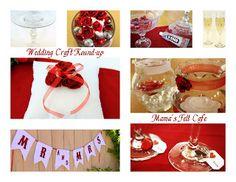 Wedding Craft Round-UP Wedding Crafts, Diy Wedding, Wedding Stuff, Wedding Gowns, Wedding Ideas, Getting Married, Felt, Crafty, Table Decorations